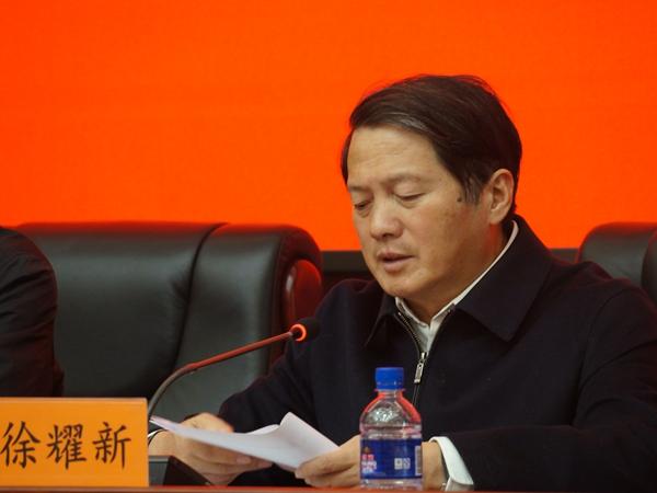 2017年12月12日下午15:00,文化部召开新闻发布会介绍第三届中国歌剧节相关情况。图为江苏省文化厅党组书记、厅长徐耀新。文化部政府门户网站记者杨倩 摄。