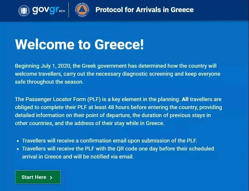 入境希腊须知
